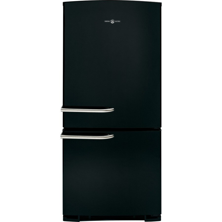 Shop Ge Artistry 20 3 Cu Ft Bottom Freezer Refrigerator Black