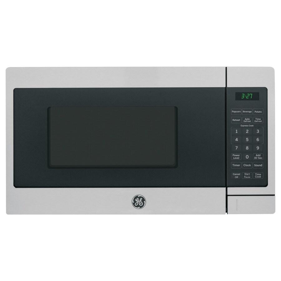 GE 0.7-cu ft 700-Watt Countertop Microwave (Stainless Steel)