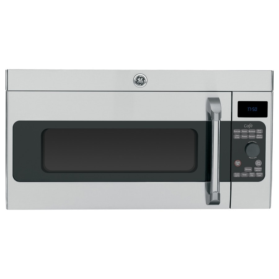 GE Cafe Series 1.7-cu ft Over-The-Range Microwave Sensor Cooking Controls (Stainless Steel) (Common: 30-in; Actual: 29.875-in)