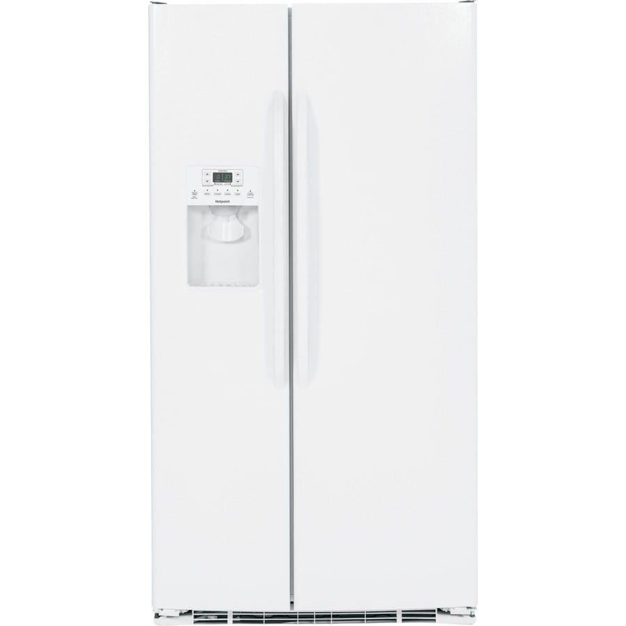 Shop Hotpoint 25.4-cu ft Side-by-Side Refrigerator with