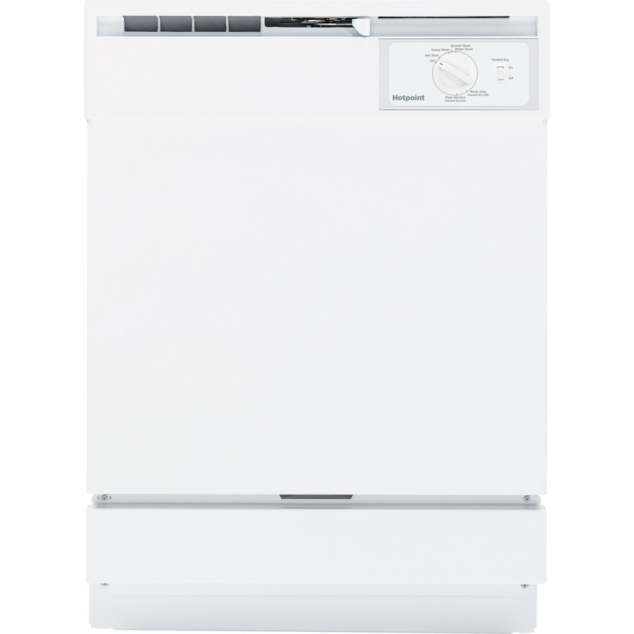 Hotpoint 64-Decibel Built-In Dishwasher with Hard Food Disposer (White) (Common: 24-in; Actual: 24-in)