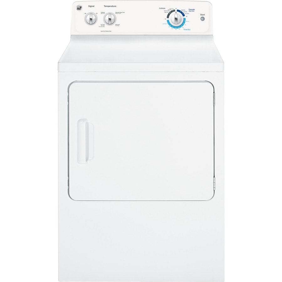 ge 6cu ft electric dryer white
