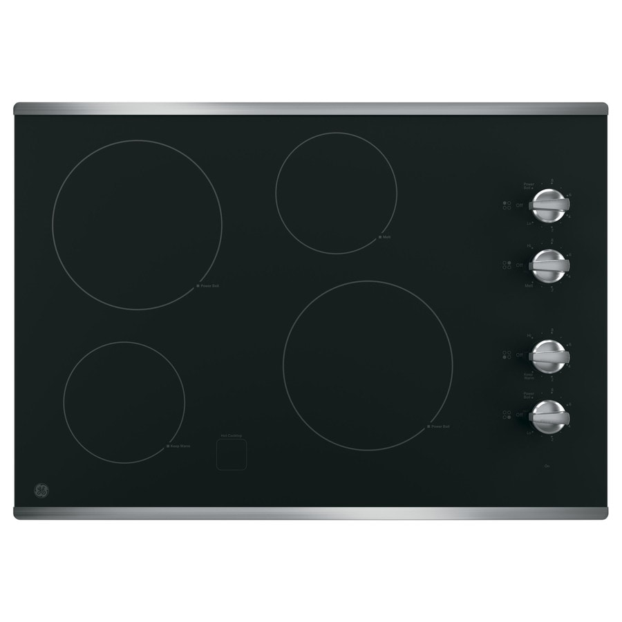 GE Smooth Surface Electric Cooktop (Stainless Steel) (Common: 30-in; Actual 29.875-in)