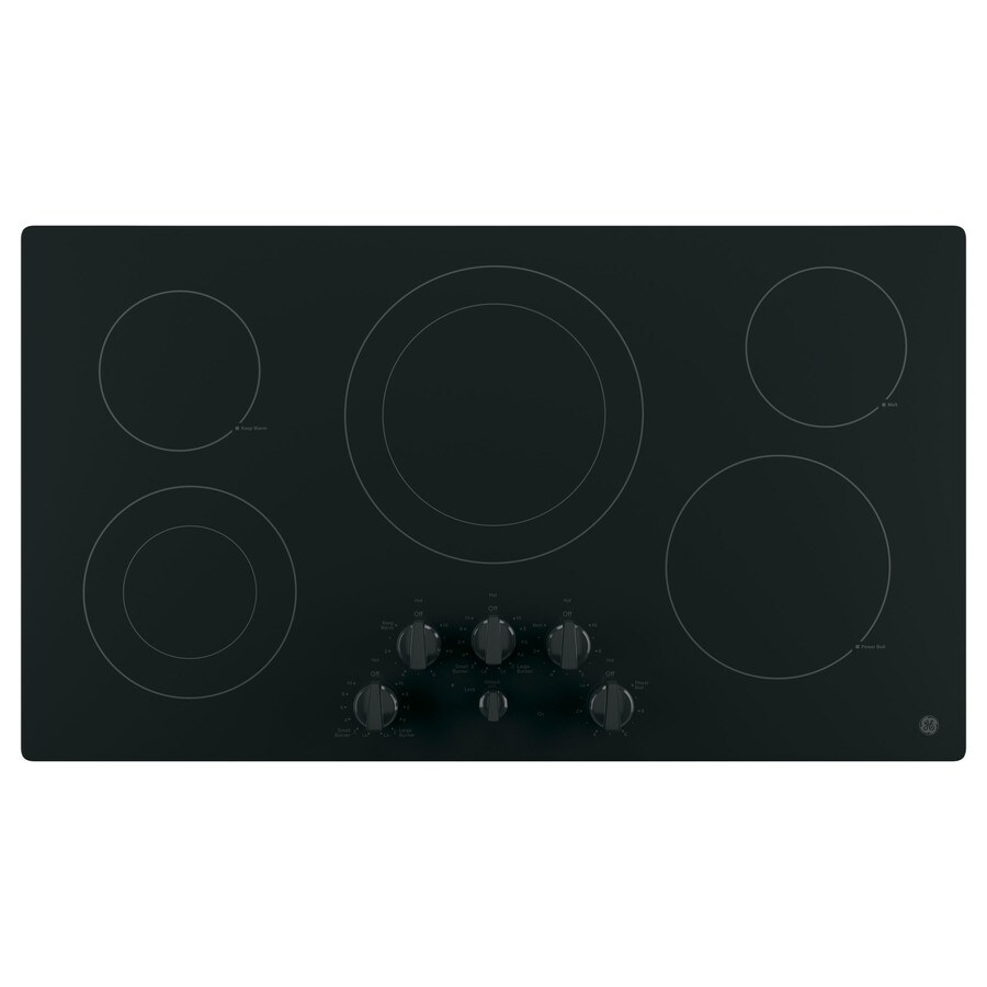 GE 5-Element Smooth Surface Electric Cooktop (Black) (Common: 36-in; Actual 36-in)