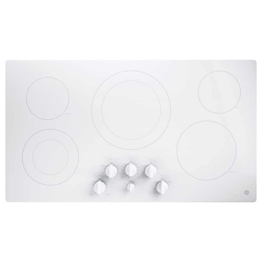 GE 5-Element Smooth Surface Electric Cooktop (White) (Common: 36-in; Actual 36-in)