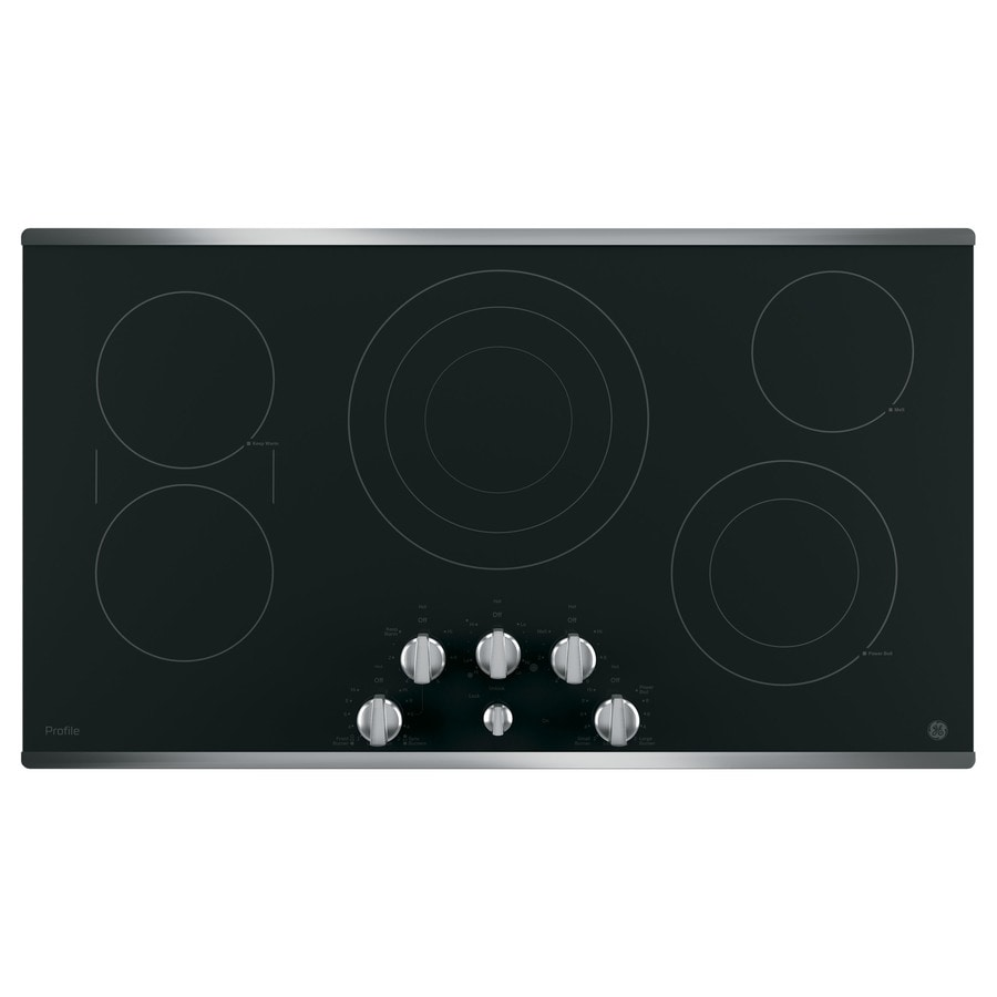 GE Profile 5-Element Smooth Surface (Radiant) Electric Cooktop (Stainless Steel) (Common: 36-in; Actual 36.125-in)