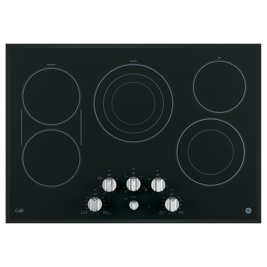 GE Cafe 5-Element Smooth Surface Electric Cooktop (Stainless Steel) (Common: 30-in; Actual 29.75-in)