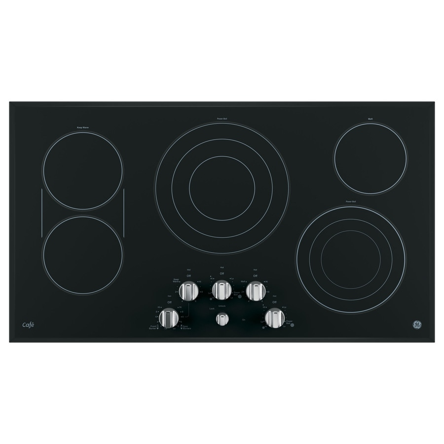 GE Cafe 5-Element Smooth Surface (Radiant) Electric Cooktop (Stainless Steel) (Common: 36-in; Actual 36-in)