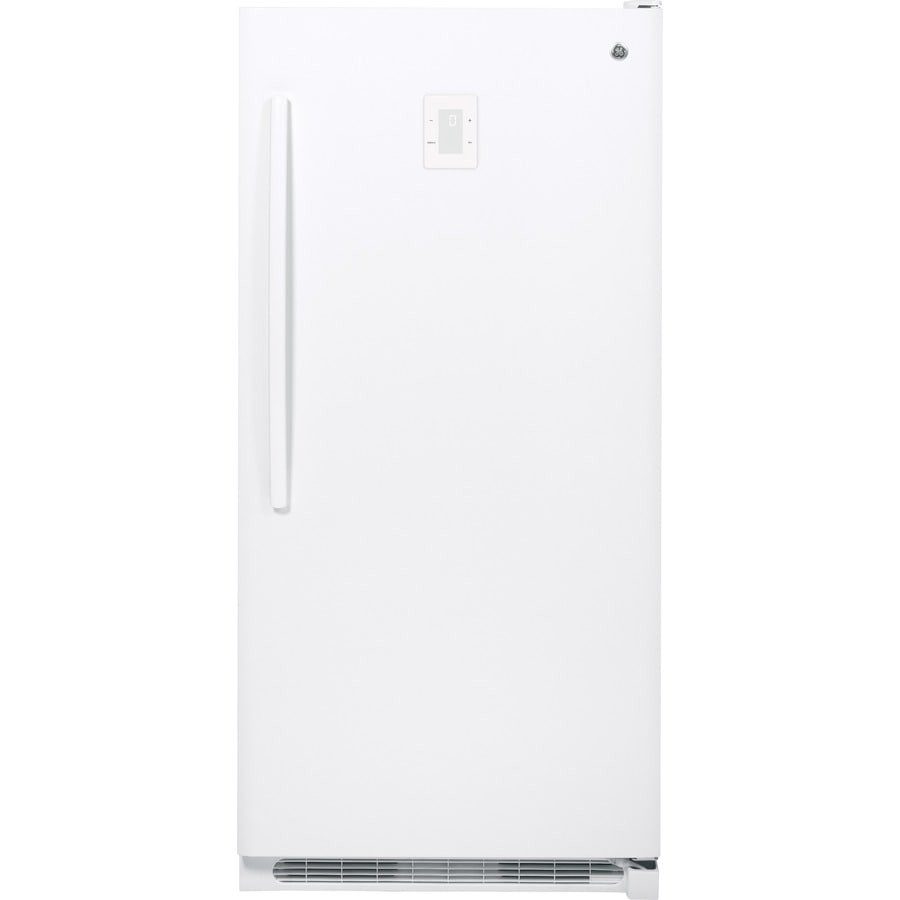 GE 20.2-cu ft Frost-Free Upright Freezer (White)