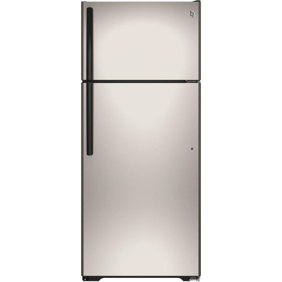 GE 17.5-cu ft Top-Freezer Refrigerator (Silver) ENERGY STAR