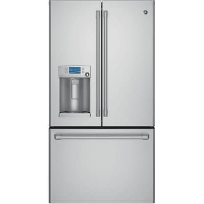 Best Counter Depth Refrigerator 2015 >> Cafe 22 1 Cu Ft 3 Door Counter Depth French Door Refrigerators Single Ice Maker Stainless Steel Energy Star