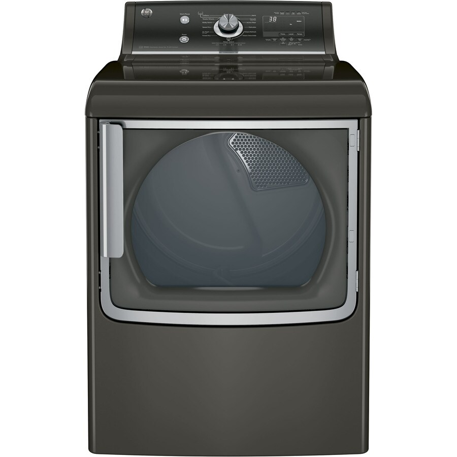 GE 7.8-cu ft Electric Dryer with Steam Cycle (Metallic Carbon) ENERGY STAR