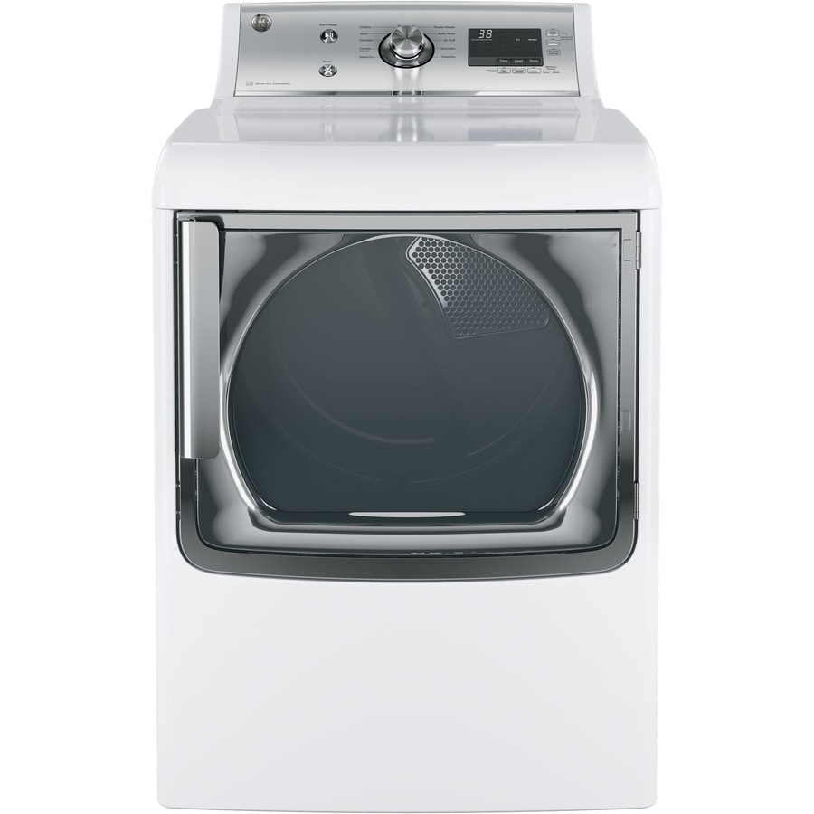 GE 7.8-cu ft Electric Dryer (White) ENERGY STAR