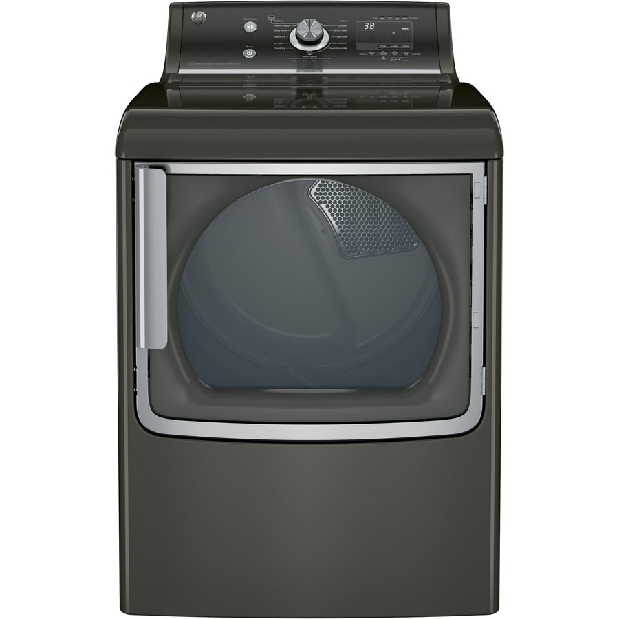 GE 7.8-cu ft Gas Dryer with Steam Cycle (Metallic Carbon) ENERGY STAR