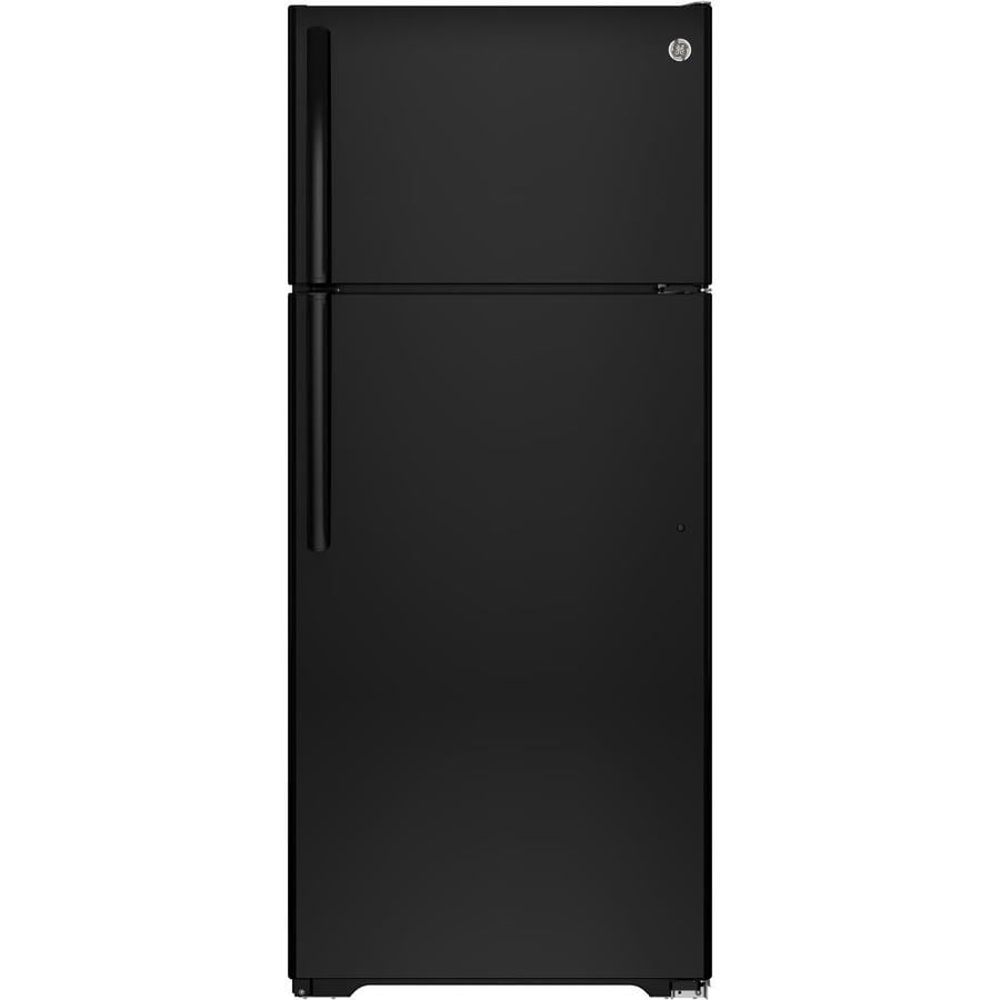 GE 17.5-cu ft Top-Freezer Refrigerator (Black) ENERGY STAR