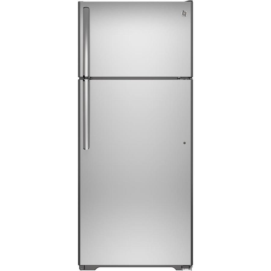 GE 17.53-cu ft Top-Freezer Refrigerator (Stainless Steel) ENERGY STAR