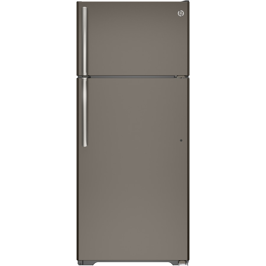 Design Ge Slate Refrigerator shop ge slate at lowes com 17 5 cu ft top freezer refrigerator fingerprint resistant energy
