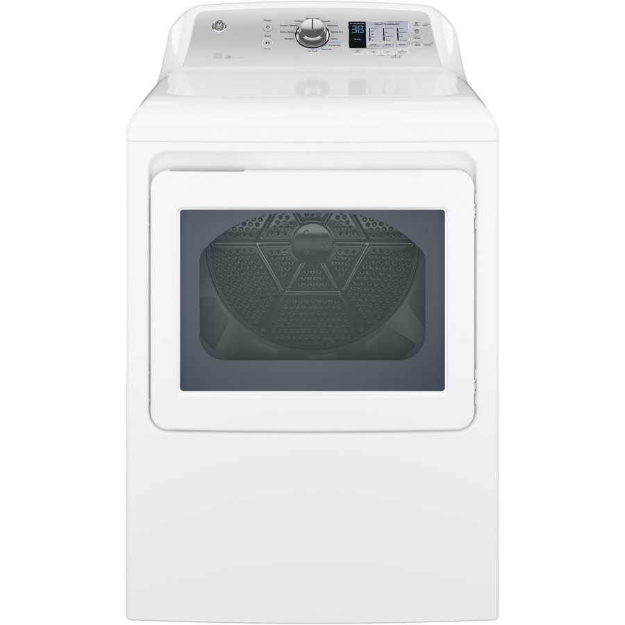 GE 7.4-cu ft Gas Dryer (White) ENERGY STAR