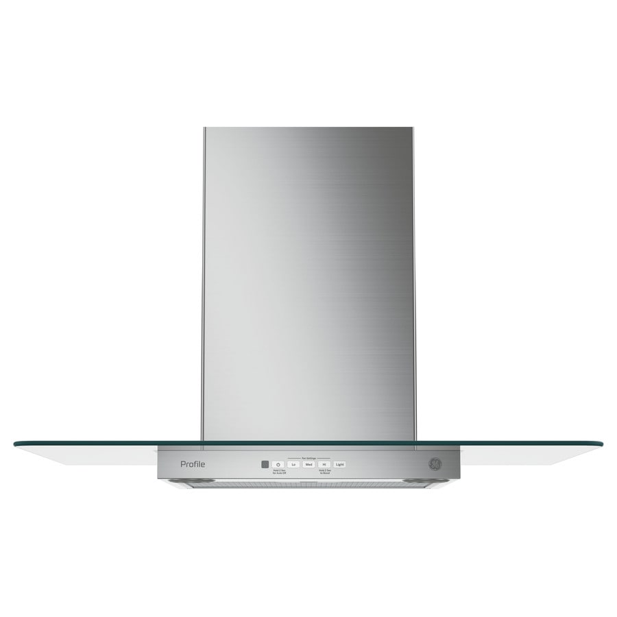GE Profile Series Convertible Wall-Mounted Range Hood (Stainless Steel 30-in; Actual 30-in)