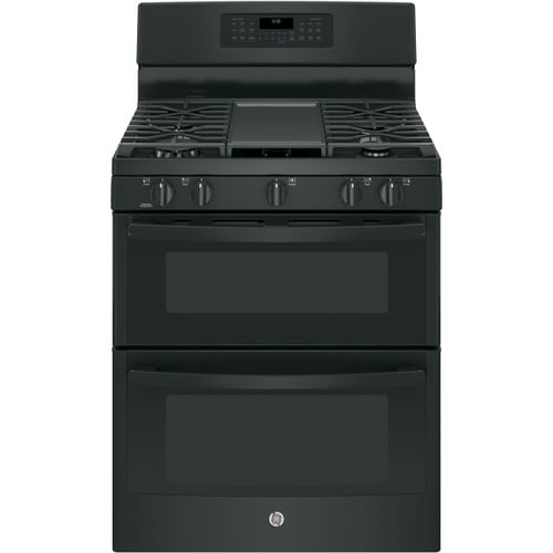 Ge 5 Burners 4 3 Cu Ft 2 5 Cu Ft Self Cleaning Double