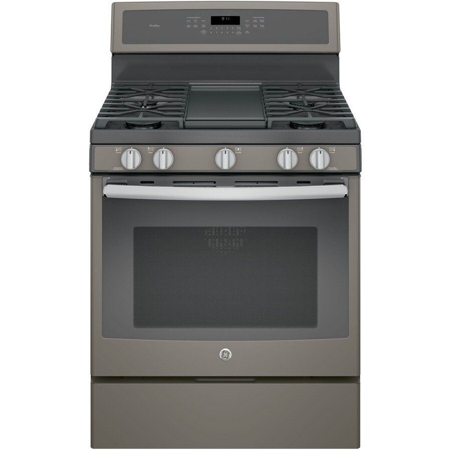 GE Profile 5-Burner Freestanding 5.6-cu ft Self-Cleaning Convection Gas Range (Slate) (Common: 30-in; Actual: 30-in)
