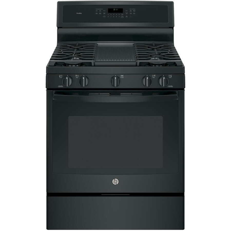 GE Profile 5-Burner Freestanding Convection Gas Range (Black) (Common: 30-in; Actual: 30-in)