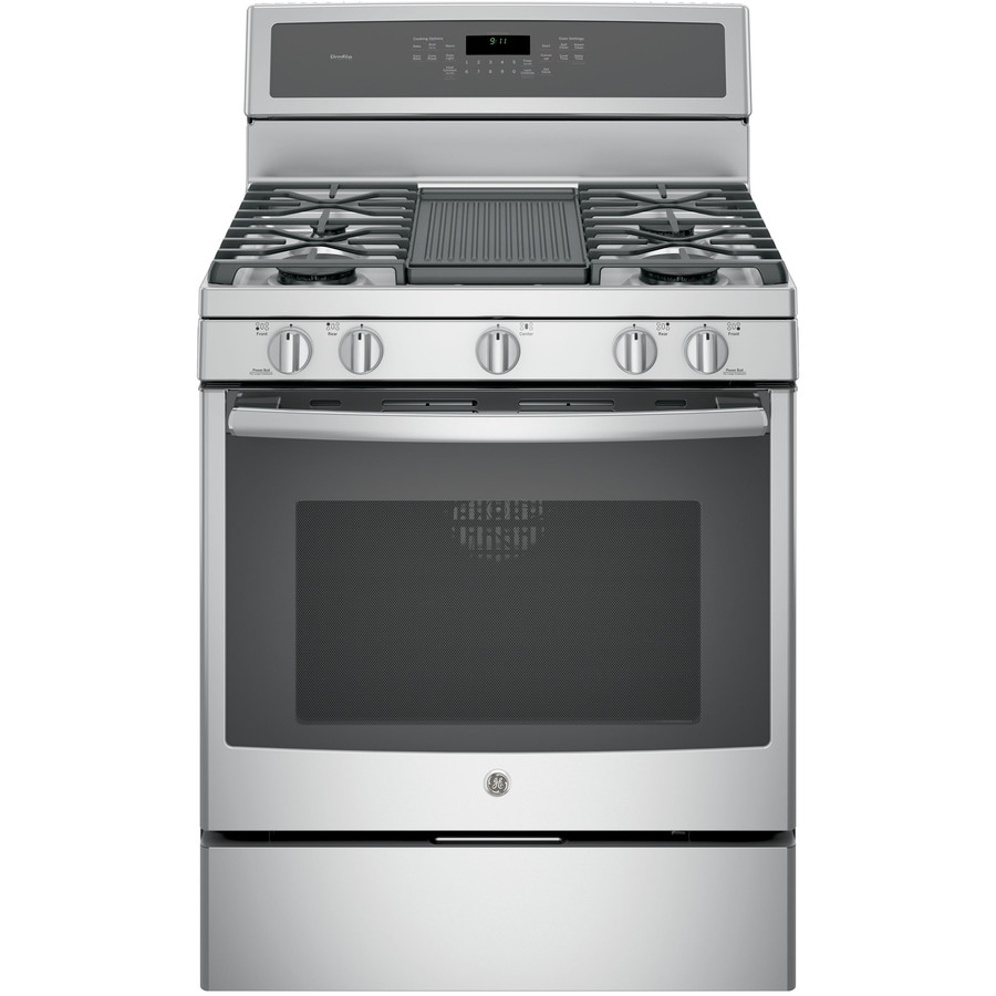 GE Profile 5-Burner Freestanding 5.6-cu ft Self-Cleaning Convection Gas Range (Stainless Steel) (Common: 30-in; Actual: 30-in)