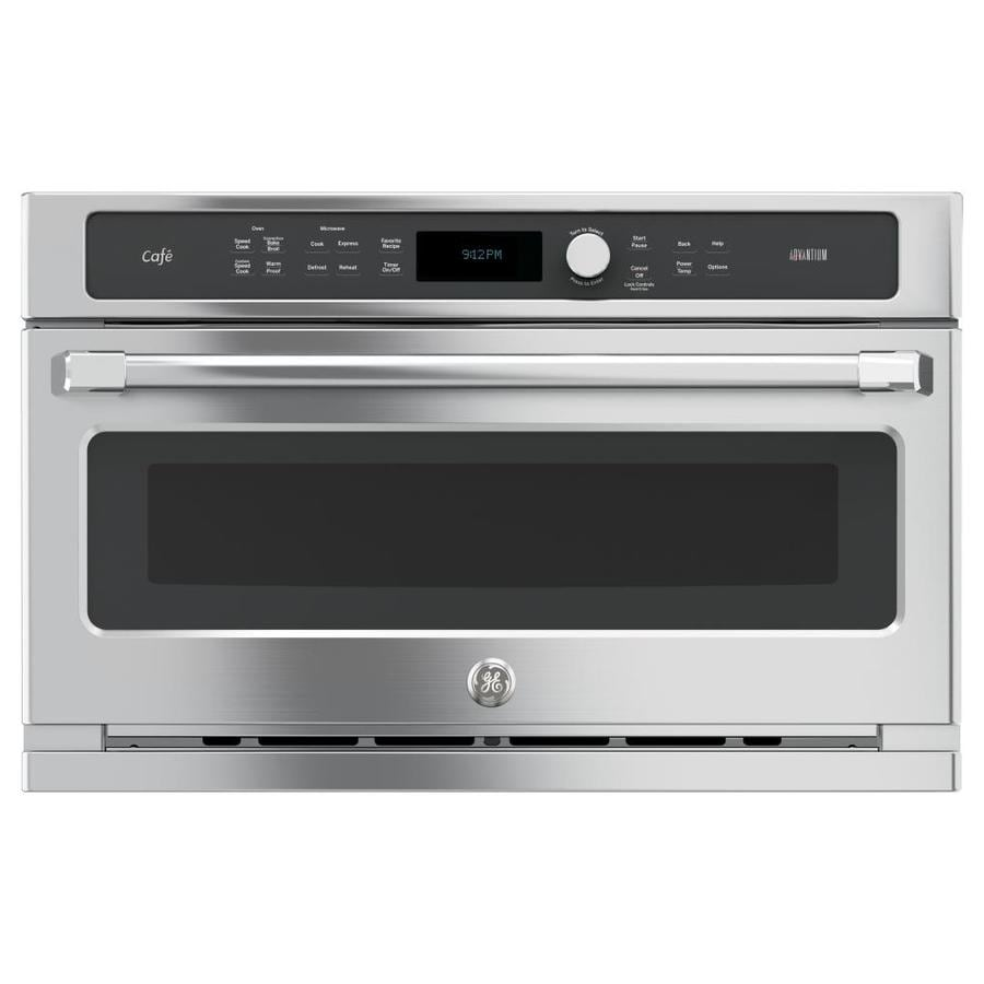 GE Cafe 1.7-cu ft Built-in Speed Cook Convection Microwave with Sensor Cooking Controls (Stainless Steel)