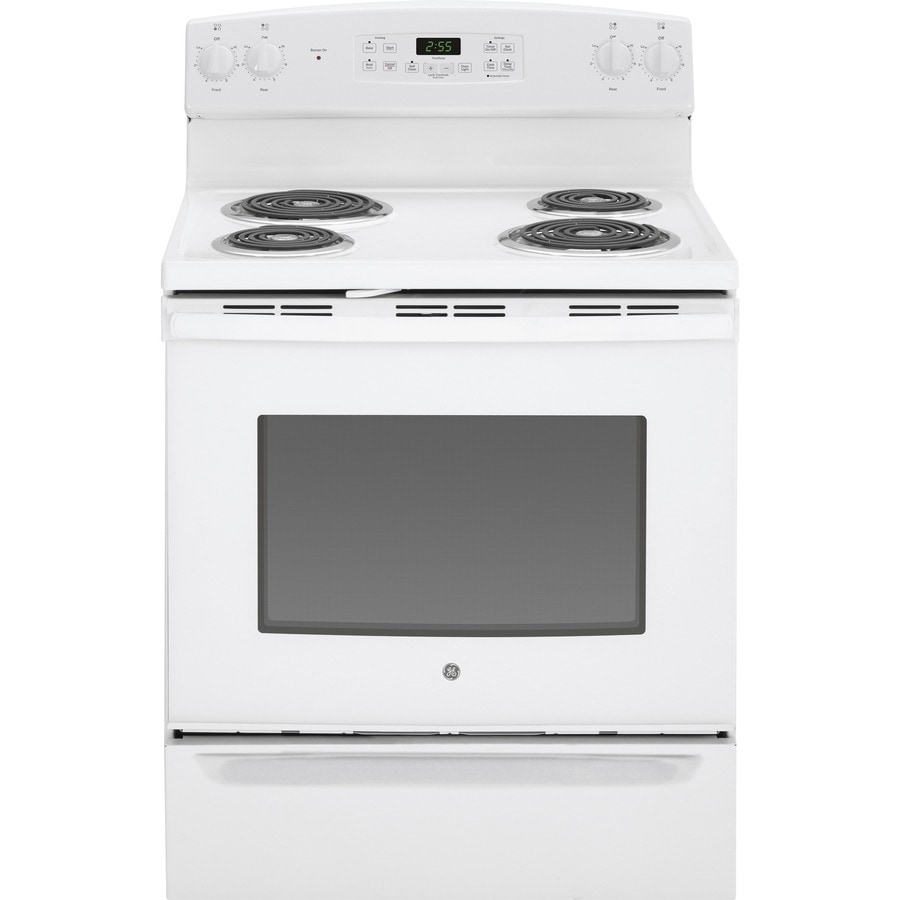 GE Freestanding 5-cu ft Self-Cleaning Electric Range (White) (Common: 30-in; Actual: 29.875-in)