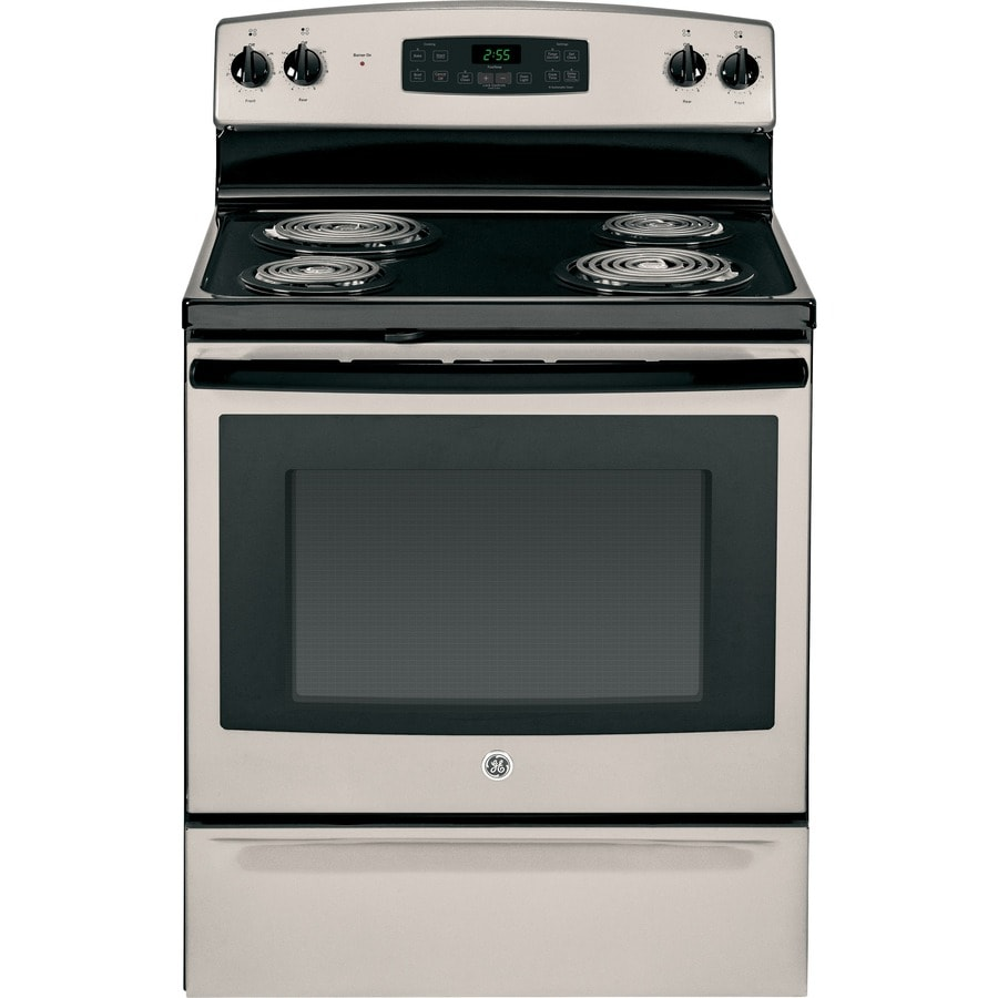 GE Freestanding 5-cu ft Self-Cleaning Electric Range (Fingerprint-Resistant Silver) (Common: 30-in; Actual: 29.875-in)