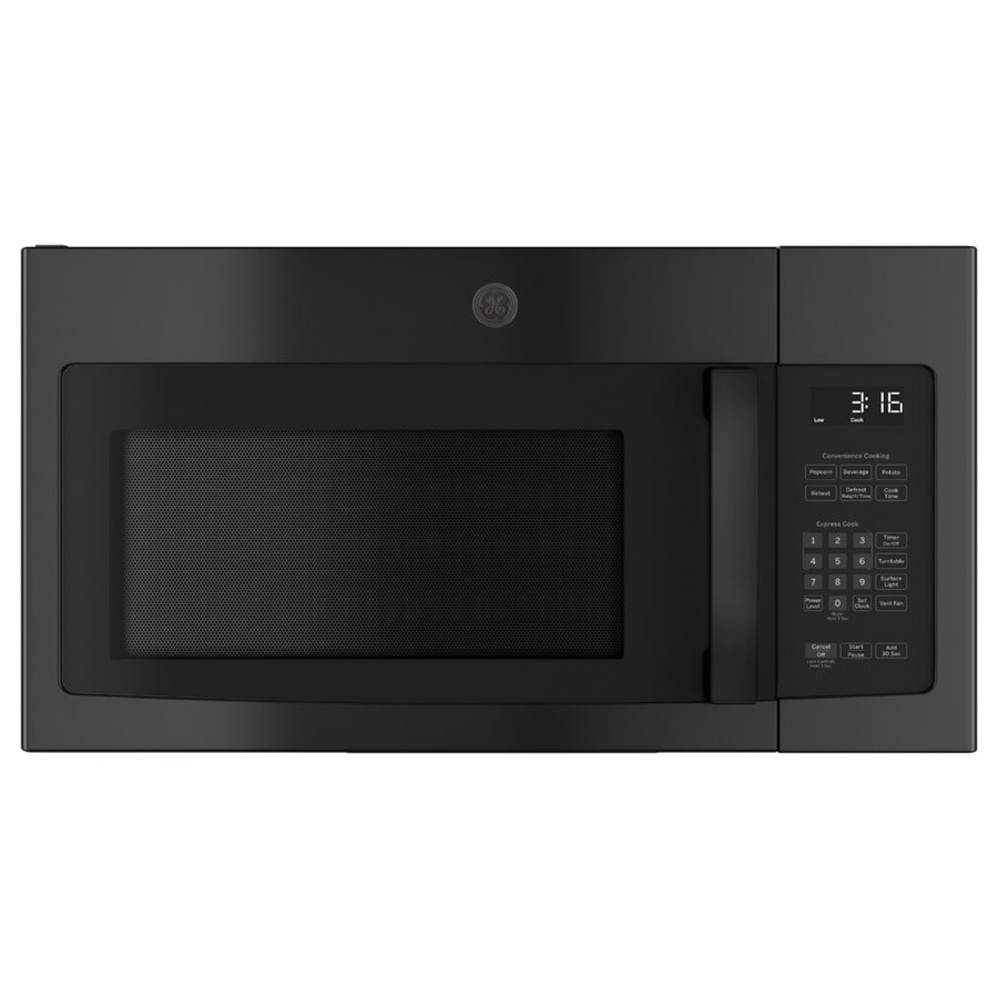 GE 1.6-cu ft Over-the-Range Microwave (Black) (Common: 30-in; Actual: 29.875-in)