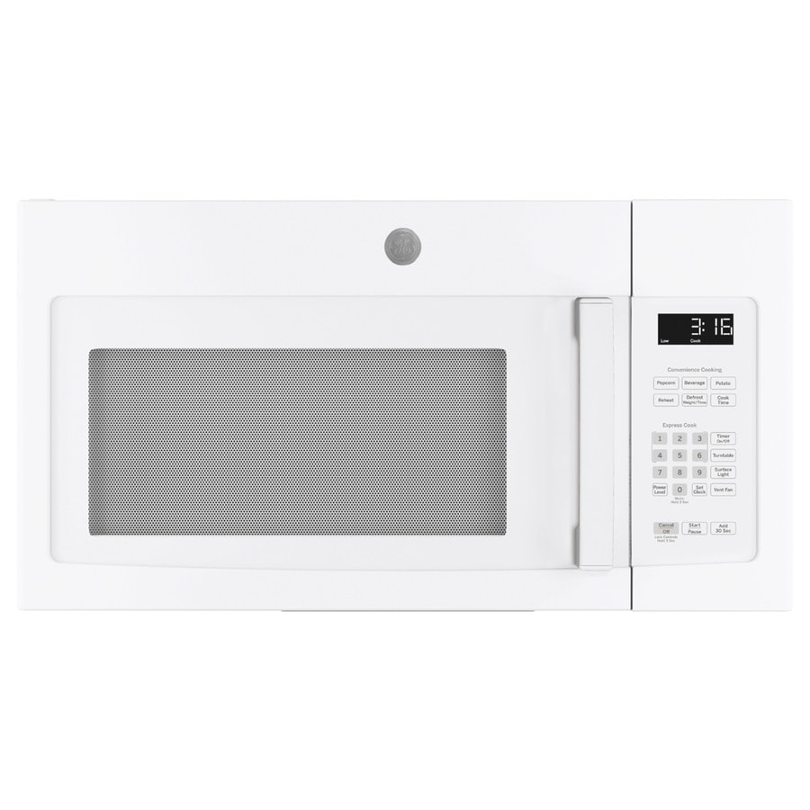 GE 1.6-cu ft Over-the-Range Microwave (White) (Common: 30-in; Actual: 29.875-in)