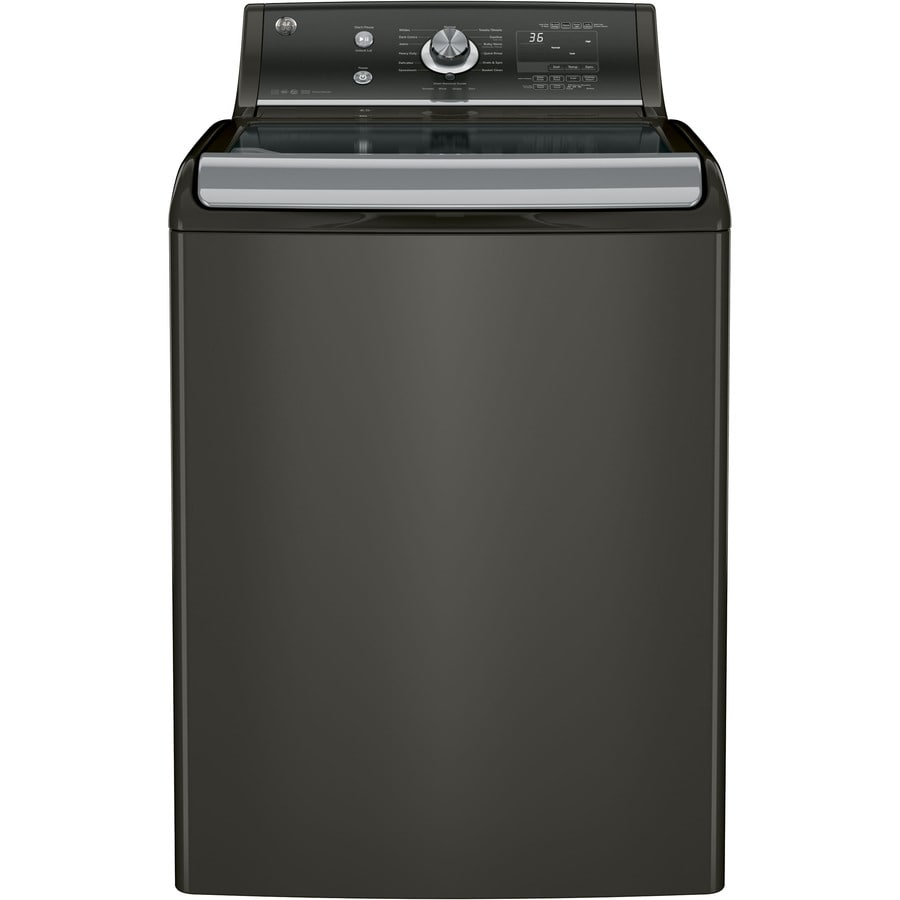 GE 5.1-cu ft High-Efficiency Top-Load Washer (Metallic Carbon) ENERGY STAR