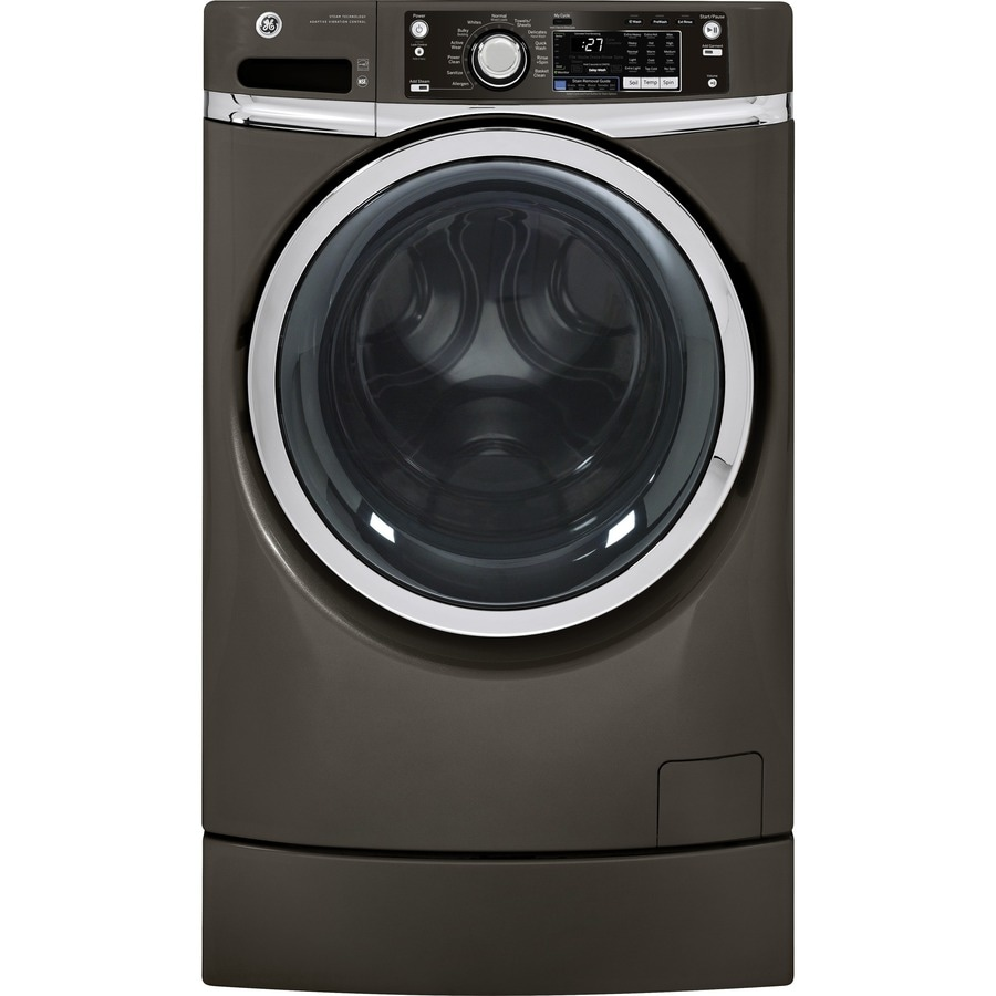GE 4.5-cu ft Front-Load Washer with Steam Cycle (Metallic Carbon) ENERGY STAR