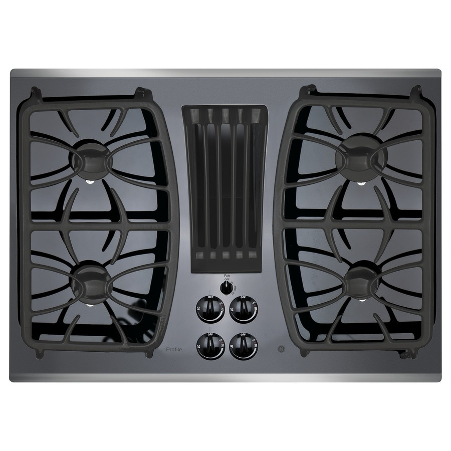 36 inch gas cooktop with downdraft - Ge Profile 4 Burner With Downdraft Exhaust Stainless Steel Common 30