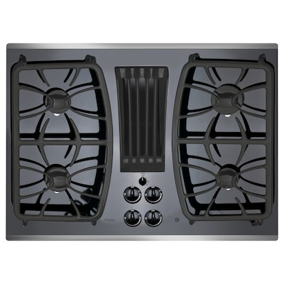 Ge Profile 30 In Stainless Steel Gas Cooktop With Downdraft