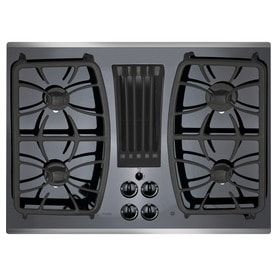 Ge Profile Gas Cooktop With Downdraft Exhaust Stainless Steel Common 30