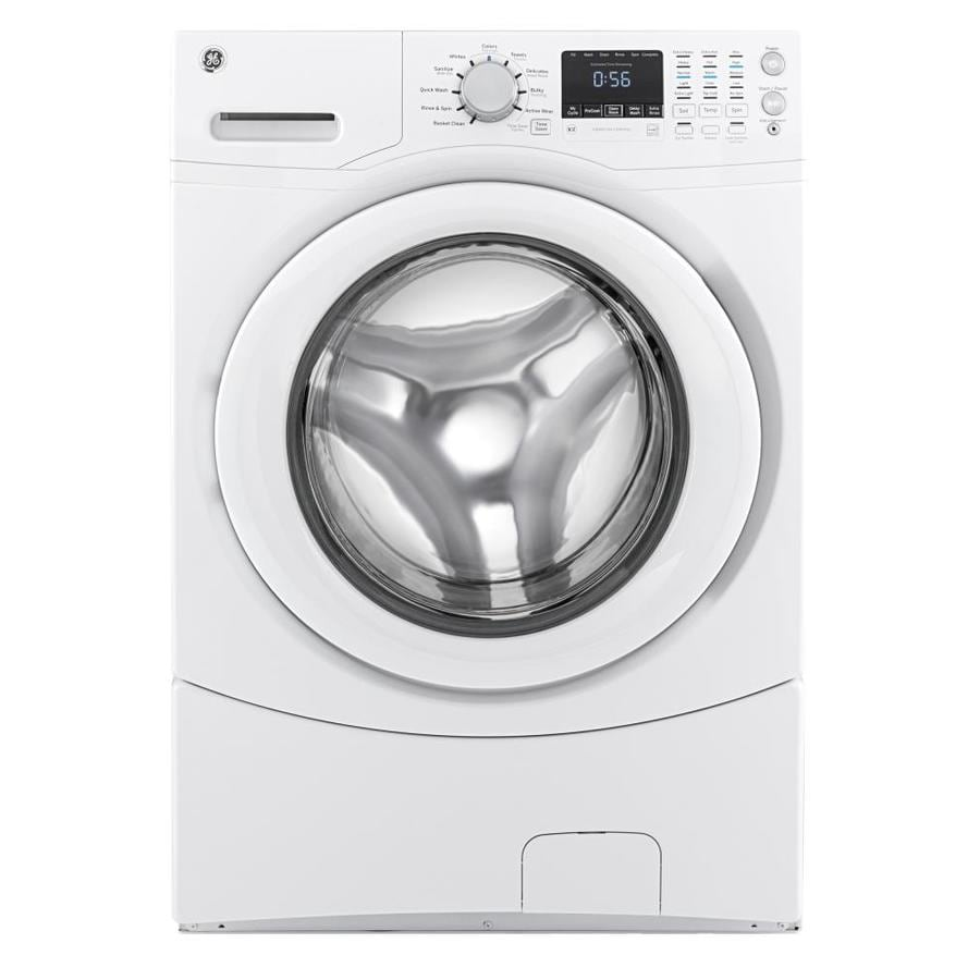 GE 4.3-cu ft Stackable Front-Load Washer (White) ENERGY STAR