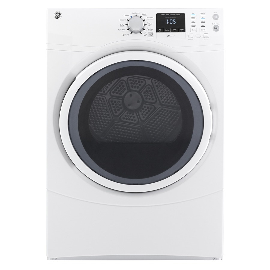 Shop Ge 7 5 Cu Ft Stackable Electric Dryer White At