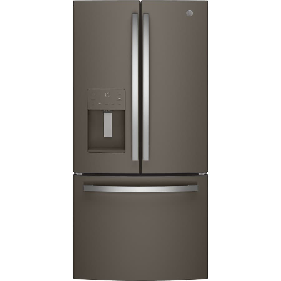 GE 23.8-cu ft French Door Refrigerator with Single Ice Maker (Slate) ENERGY STAR