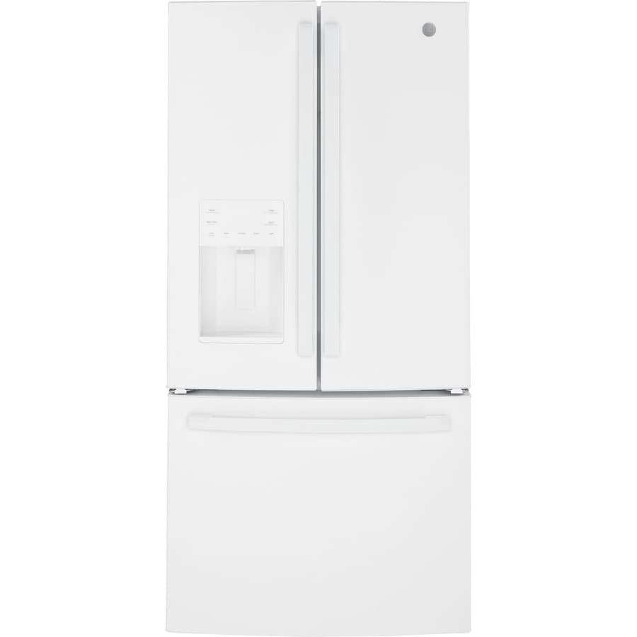 Shop Ge 23 8 Cu Ft French Door Refrigerator With Ice Maker