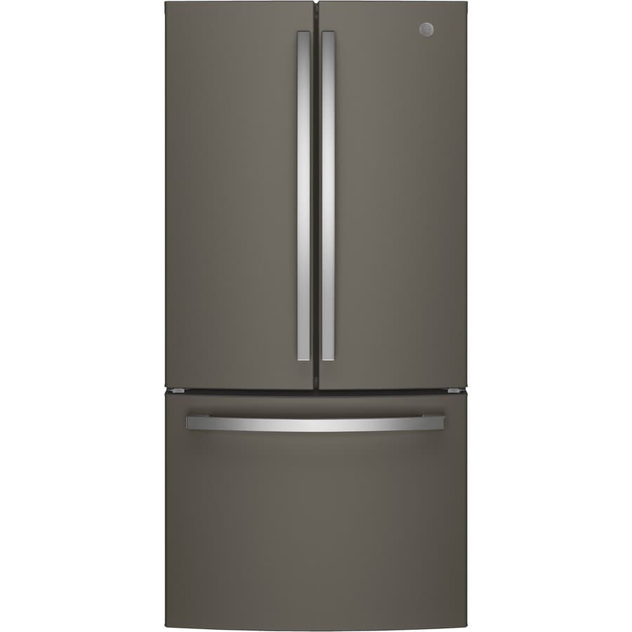 GE 24.8-cu ft French Door Refrigerator with Single Ice Maker (Slate) ENERGY STAR