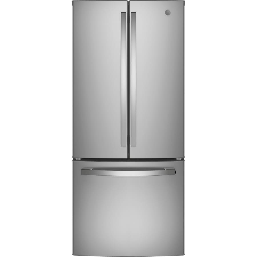 Shop Ge 20 8 Cu Ft French Door Refrigerator With Ice Maker