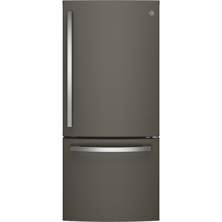 GE 20.9-cu ft Bottom-Freezer Refrigerator with Ice Maker  (Fingerprint-Resistant