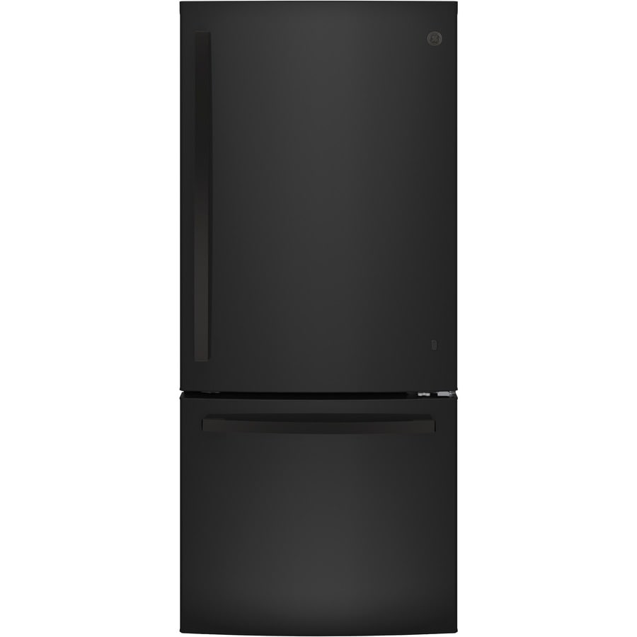 GE 20.9-cu ft Bottom-Freezer Refrigerator (Black) ENERGY STAR