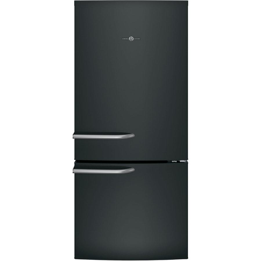GE Artistry Series 21-cu ft Bottom-Freezer Refrigerator (Black) ENERGY STAR