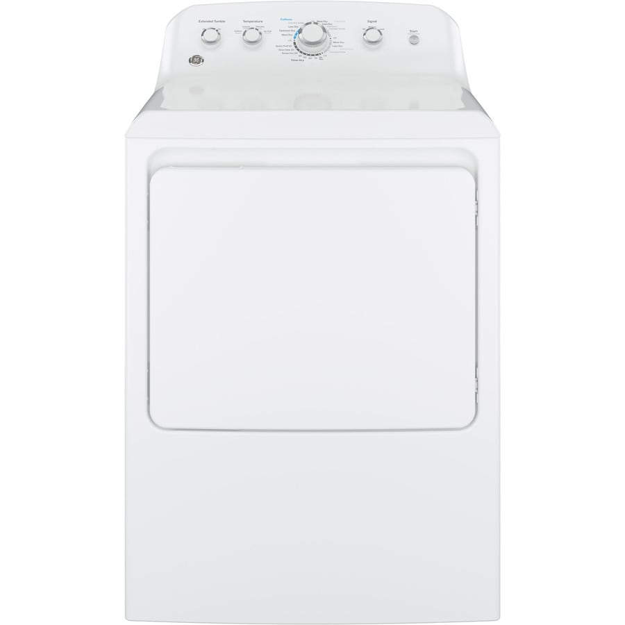 GE 6.2-cu ft Gas Dryer (White)
