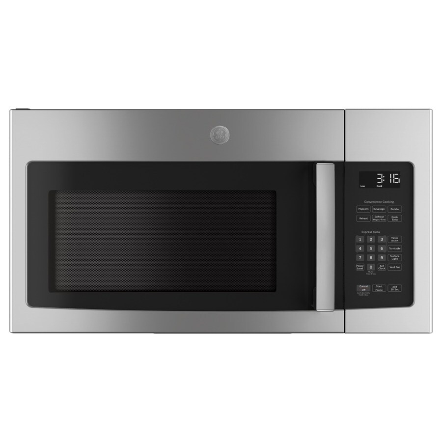 GE 1.6-cu ft Over-the-Range Microwave (Stainless) (Common: 30-in; Actual: 29.875-in)