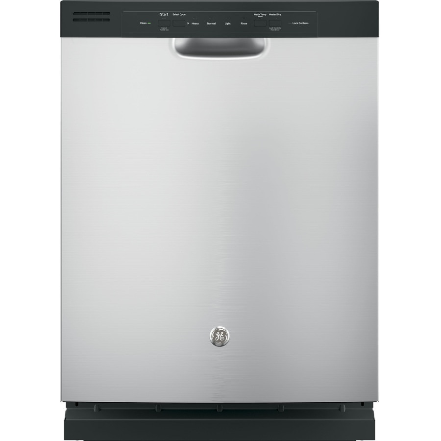 GE 55-Decibel Built-In Dishwasher with Hard Food Disposer (Stainless Steel) (Common: 24-in; Actual: 23.75-in)