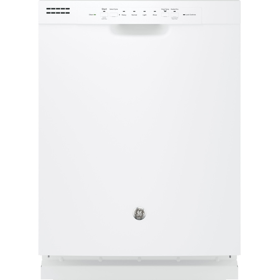GE 55-Decibel Built-In Dishwasher with Hard Food Disposer (White) (Common: 24-in; Actual: 23.75-in)